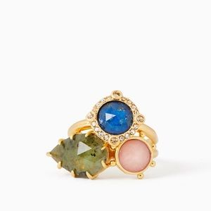 Kate Spade Perfectly Imperfect Stone Ring Set